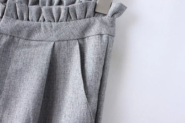 Pants with Ruched Waistline