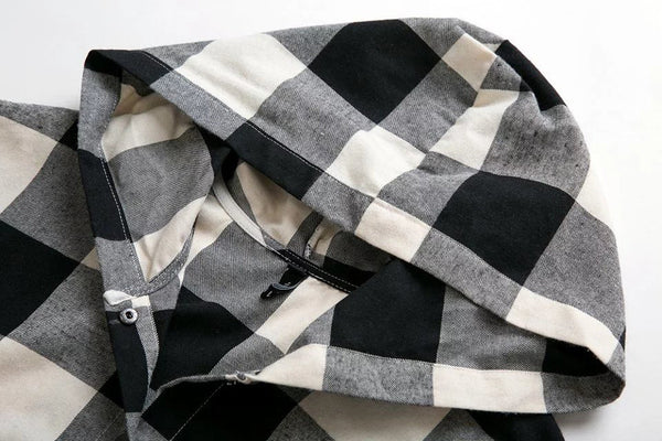 Checkered Shirt with Hood
