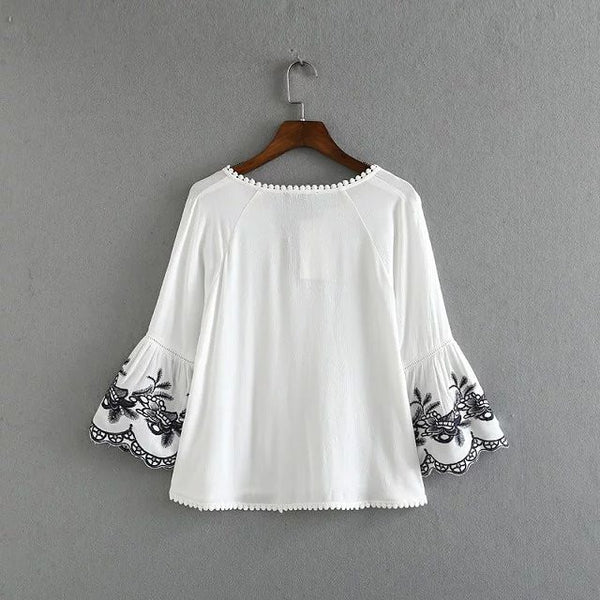 Bell Sleeve Blouse (3 Color)