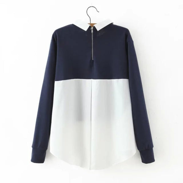 Colorblock Pullover (2 Color)