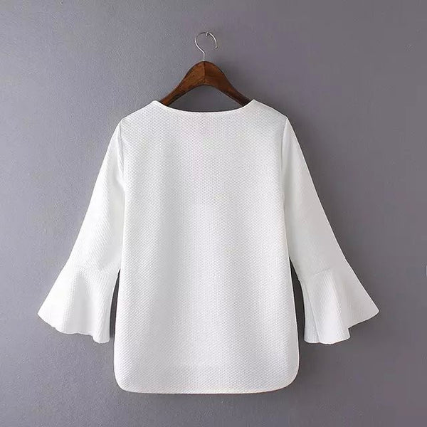 'Flare Sleeve Top (3 Color)
