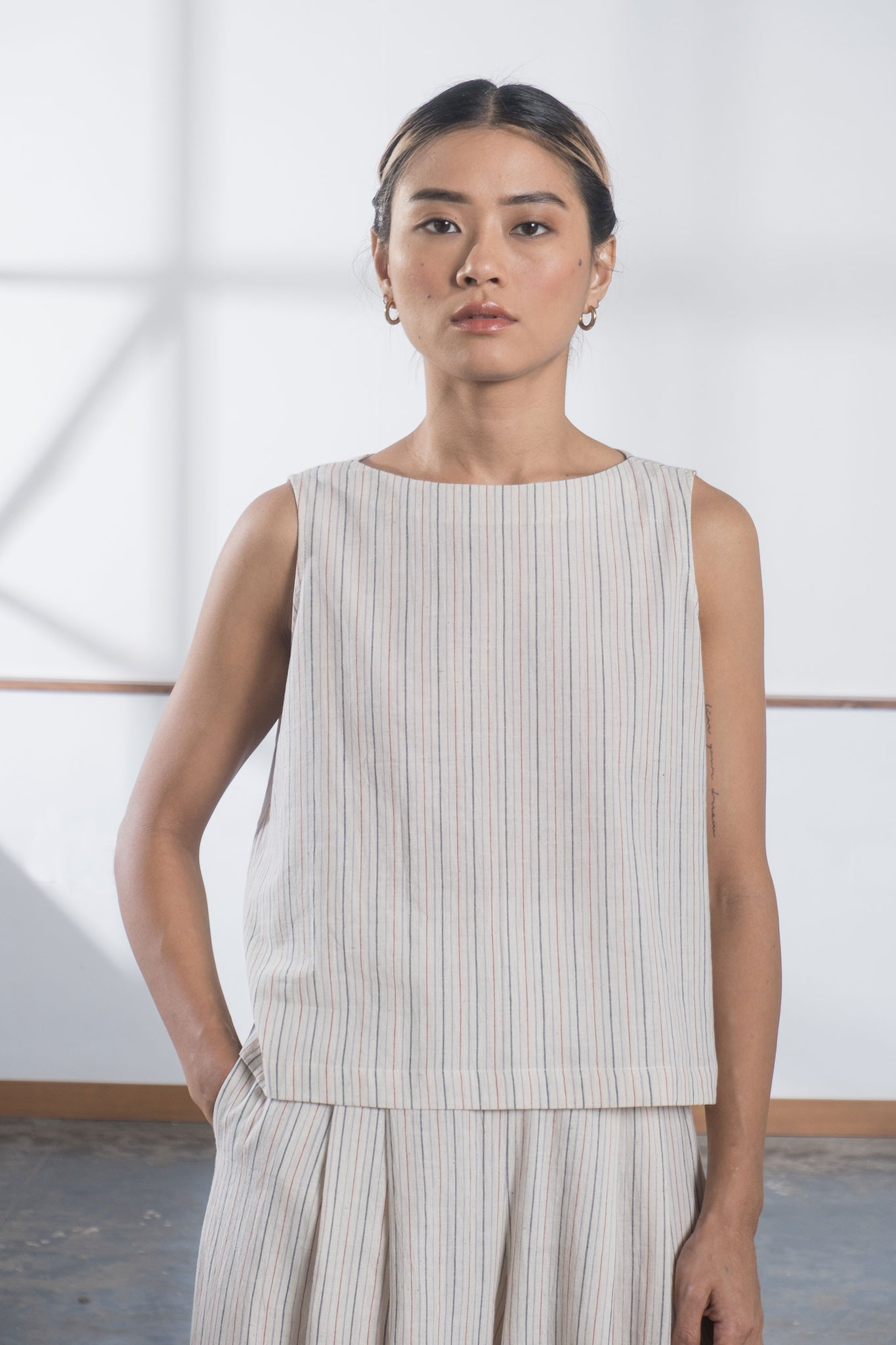Freida Top - Minimal Stripe