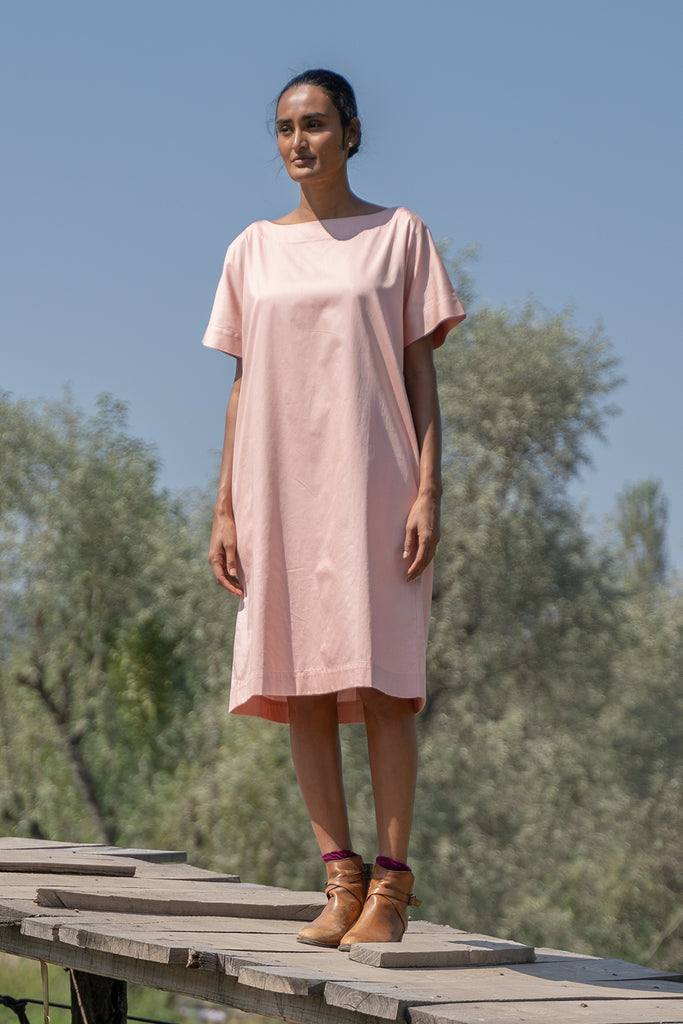 b1bb4091af PINK SHIFT DRESS - ETHICAL FASHION BRAND - THE SUMMER HOUSE