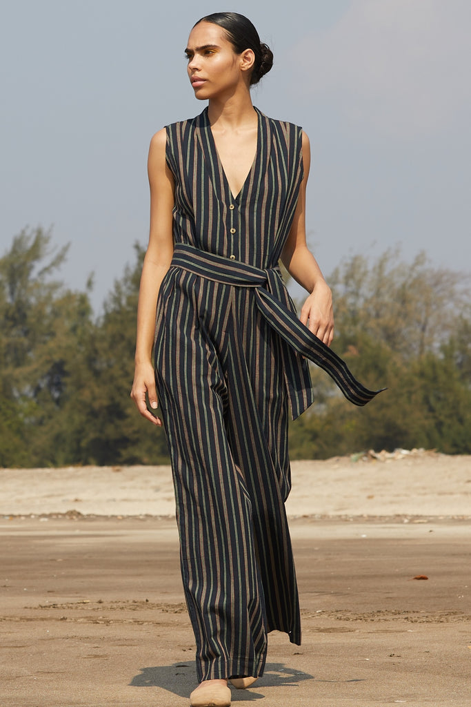 19ffe2cc0001 Khadi Jumpsuit - The Summer House - India s Best Ethical Brand