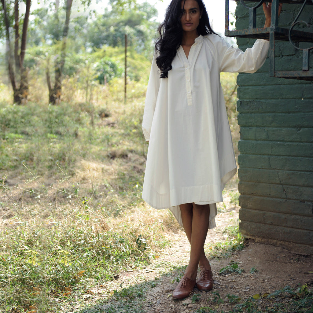 The Woodstock Shirt Dress - Ivory