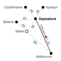 Trippt to Daylesford map