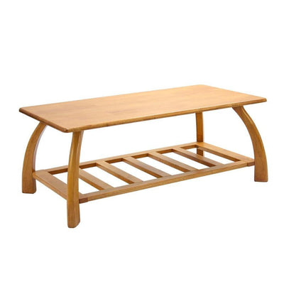 Wooden Coffee Table with lower storage shelf