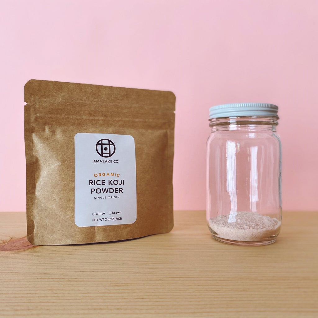 Shio Koji Kit with Organic Rice Koji Powder and Pink Salt - Amazake Co.