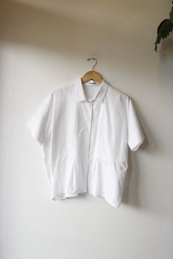 Jil Sander white cotton poplin boxy shirt sz 38/M