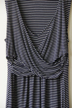 Load image into Gallery viewer, Gap MATERNITY navy/white striped tank nursing dress sz M