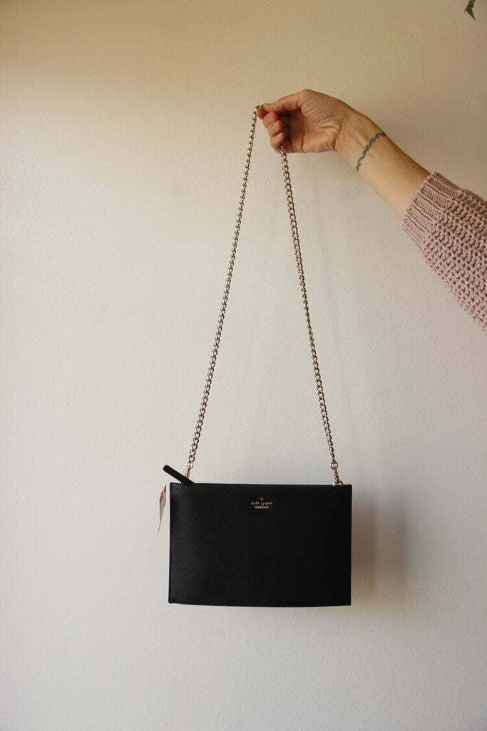 Kate Spade black 'Cameron Street Sima' convertible clutch/crossbody (NWT $198)