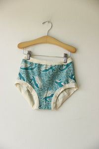 Thunderpants Women's Original Turquoise Whales sz XL