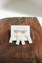 Load image into Gallery viewer, AMSHA PDX Arch Earrings in white