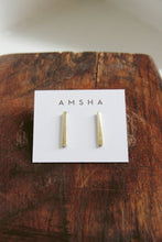 Load image into Gallery viewer, AMSHA PDX brass bar studs