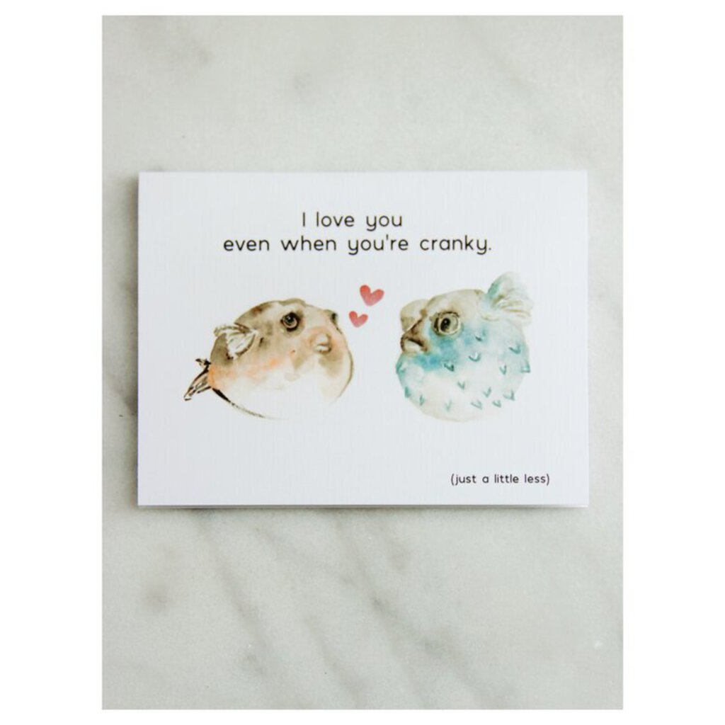 Easy Sunday Club Pufferfish ILY Card