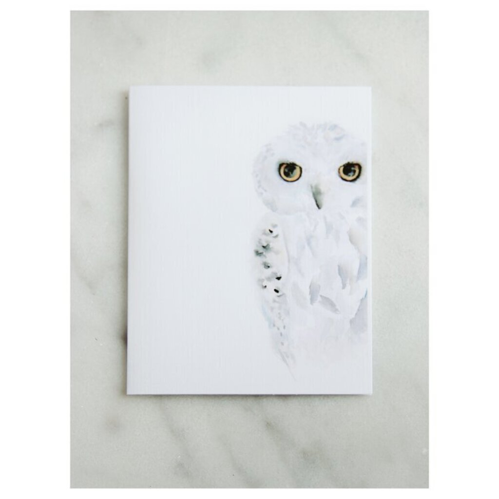Easy Sunday Club PDX Snowy Owl Greeting Card