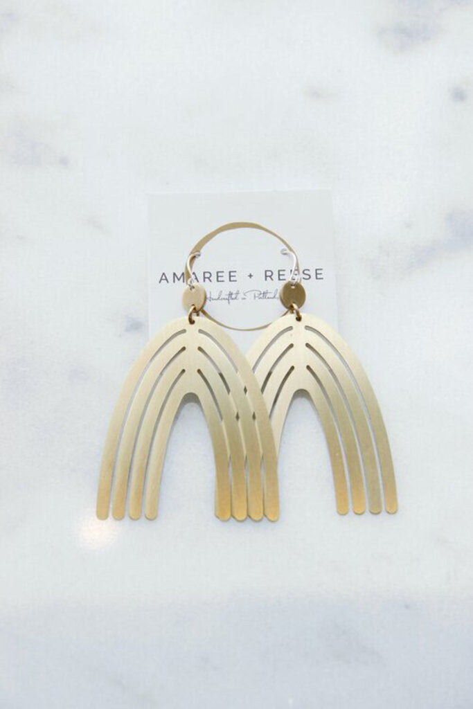Amaree & Reese brass Taavia earrings