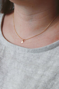 Destiny Ray PDX gold fill xs gold heart necklace