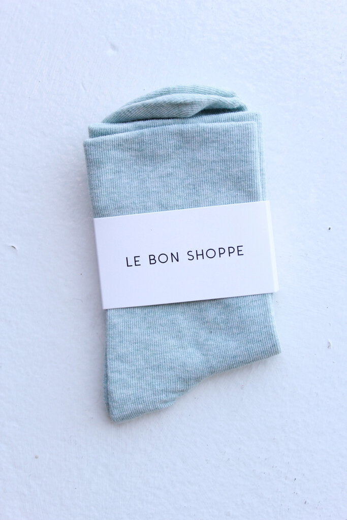 Le Bon Shoppe Sneaker Socks in Seafoam