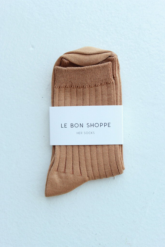 Le Bon Shoppe Her Socks Cotton Peanut Butter