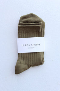 Le Bon Shoppe Her Socks Cotton Pesto