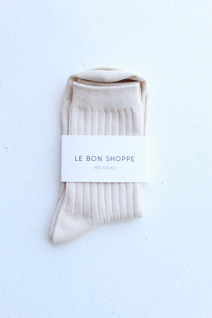 Le Bon Shoppe Her Socks Cotton Porcelain