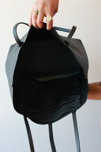 COACH CHARCOAL LEATHER TOTE