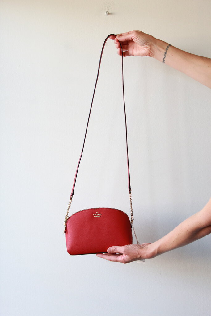 Kate Spade small red leather crossbody purse
