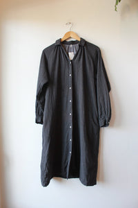 MUJI CHARCOAL FLANNEL DRESS, SZ XS/S