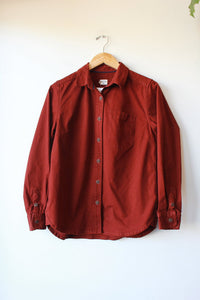 BRIDGE & BURN BURGUNDY THICK FLANNEL SHIRT JACKET, SZ M