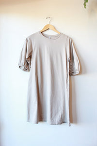 UNIQLO GREY PUFFED SLEEVE TEE DRESS, SZ XS