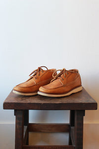 RED WING TAN LEATHER LOW MOC BOOTS SZ 9.5
