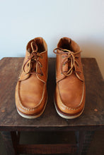 Load image into Gallery viewer, RED WING TAN LEATHER LOW MOC BOOTS SZ 9.5