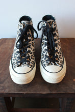 Load image into Gallery viewer, CONVERSE LEOPARD PRINT HIGH TOPS, SZ 7 (FIT 7.5-8)