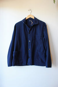 FRENCH BLUE CANVAS LIGHT WEIGHT WORK JACKET SZ M/L