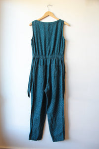 FISCHER DEEP GREEN COTTON BUTTON FRONT JUMPSUIT SZ S