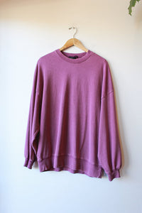 OUT FROM UNDER PLUM OVERSIZED SWEATSHIRT, SZ XS (FIT SZ S-XL)