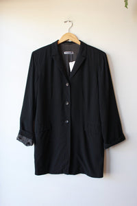JIL SANDER BLACK WOOL JACKET SZ 40/US 10