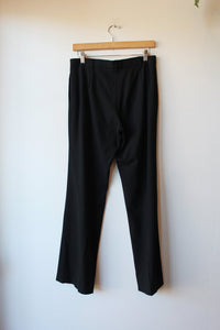 JIL SANDER BLACK LIGHTWEIGHT WOOL STRETCH TROUSER, SZ 38/US 8