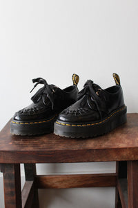 DR. MARTENS BLACK PLATFORM OXFORDS SZ 6 (FIT 6.5)