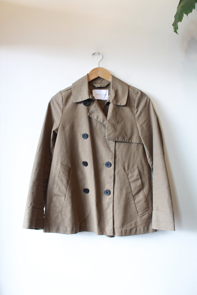 Everlane 'Swing Trench' in olive sz XS ($135 retail)