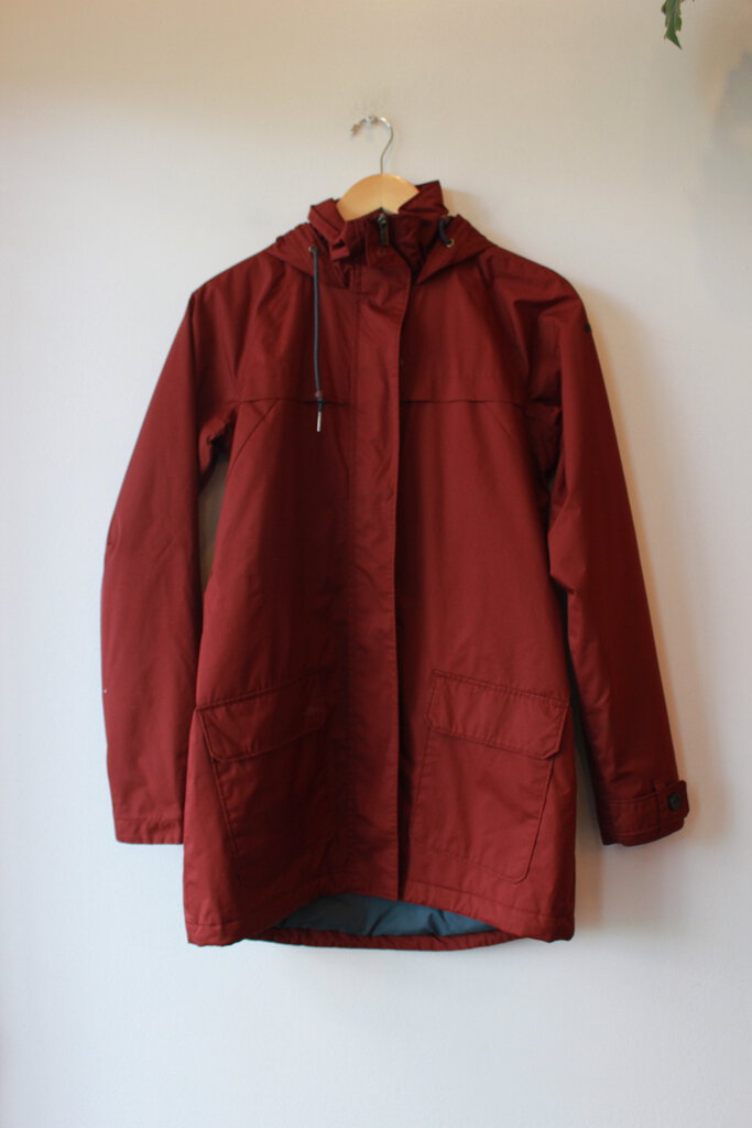 COLUMBIA BURGUNDY INSULATED RAIN JACKET SZ XS