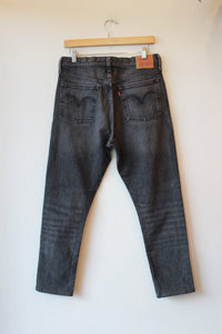 LEVI'S WASHED BLACK 501 S (TAPERED FOR SLIMMER LEG) SZ 6