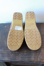Load image into Gallery viewer, DANSKO BROWN SLIP ON PROFESSIONAL CLOGS WITH EMBOSSED STRAP SZ 38/7.5
