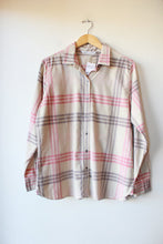 Load image into Gallery viewer, WOOLRICH TAN PINK PLAID FAINT CORDUROY BUTTON DOWN SZ M NWT