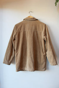 EDDIE BAUER TAN CORDUROY INSULATED BARN COAT SZ XS