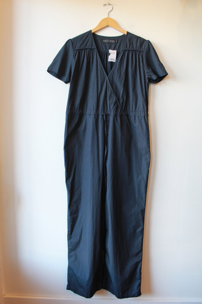 CHRISTY DAWN NAVY TINY DOT JUMPSUIT SZ XL