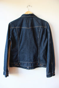 LEVI'S DARK WASH DENIM JACKET SZ S