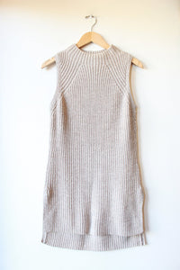 TOAD & CO OAT WOOL SLEEVELESS TUNIC SWEATER SZ S