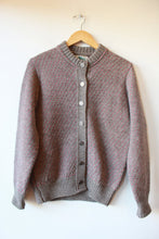 Load image into Gallery viewer, VINTAGE REI BROWN PINK HEAVY WOOL CARDIGAN SZ M